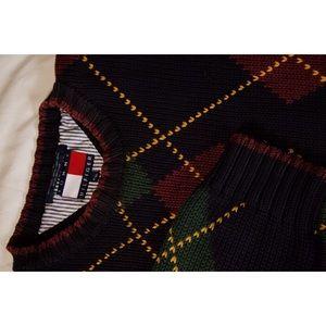 Tommy Hilfiger Heavy Knit Plaid Sweater